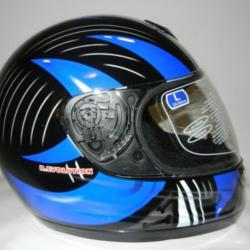 CASCO INTEGRALE JFM REVOLUTION BLU Bones - 64170