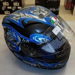 CASCO INTEGRALE AGV Stealth Skulls Blu Nero XL - 1A170027107