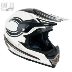 CASCO CROSS ENDURO SENZA VISIERA  BIANCO METAL MOONSHINE 610P - CG610P