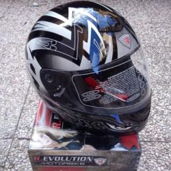 CASCO INTEGRALE JFM REVOLUTION ARGENTO NERO FEAR - 64148
